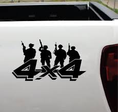 4 4 Soldier Military Silhouette Sticker Ford Ford Chevy Dodge Toyota 4 4 Decals Aftermarket Replacement Non Factory Custom Sticker Shop
