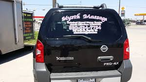 Window Decals For My Massage Practice On Thumper Rear View Thumper Window Decals Rear View