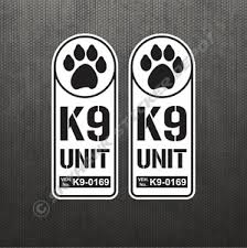 K9 Unit Badge Sticker Set Vinyl Decal Hunting Dog Police Law Enforcement K 9 B W Ebay