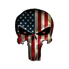 Wall Chris Kyle Punisher American Flag Sniper Car Window Decal Vinyl Sticker Navy Seal Mc Artwork Decals