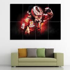 Kimi Raikkonen F1 Scuderia Ferrari Block Giant Wall Art Poster