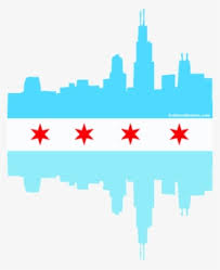 Chicago Flag Chicago Skyline With Flag Transparent Png 326x400 Free Download On Nicepng