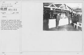 American Red Cross - Canteens - Interior of American Red Cross Casual  Canteen in Le Mains, France, which