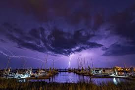 thunder storn flash lightning sky night