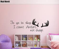 To Go To Sleep I Count Antlers Not Sheep Wall Art Stickers Wall Decals Home Diy Decoration Removable Decor Wall Stickers A01 Wall Stickers Aliexpress