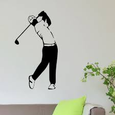 Shop Golf Player Vinyl Wall Art Decal Sticker Overstock 10577963