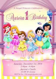 Digital Disney Toddler Princess Invitacion Invitacion De