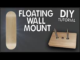 floating skateboard wall mount diy