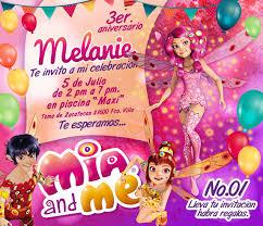 Mia And Me Invitacion Invitaciones Tarjeta De Cumple