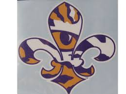 Lsu Tigers 6 Fleur De Lis Tiger Eye Decal Purple And Gold Sports
