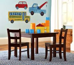 Pottery Barn Child S Room Table Chairs And Truck Wall Decalsinterior Design Ideas