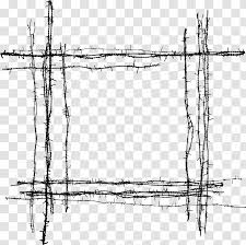 Barbed Wire Fence Drawing Material Transparent Png