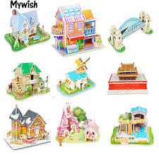 Bộ đồ chơi xếp hình công trình bằng giấy nhiều màu sắc xinh xắn ...