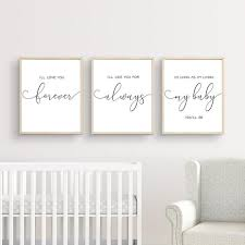 I Ll Love You Forever Print Nursery Wall Art Baby Shower Etsy