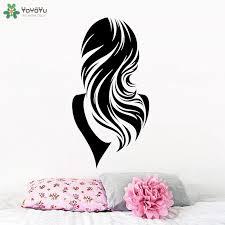 Yoyoyu Wall Decal Girls Beauty Salon Wall Stickers Long Wavy Hair Pattern Haircut Barber Shop Decor Removable Window Mural Sy898 Salon Wall Stickers Wall Stickerbarber Shop Decor Aliexpress
