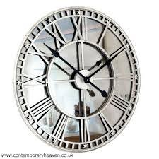 skeleton wall clock mirror wall clock