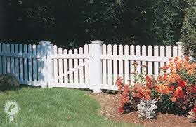 Dog Ear Picket Fence With Scalloped Gate Backyard Fences Farm Fence Cheap Fence