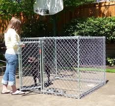 Heavy Duty Chain Link Dog Kennel Enclosure 4 H X 5 W X 5 L Spots Dog Kennel