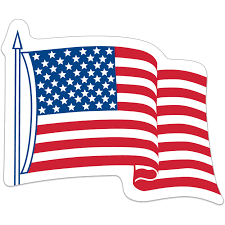 Giveaway Waving Usa Flag Decals 4 X 3 25 Stickers