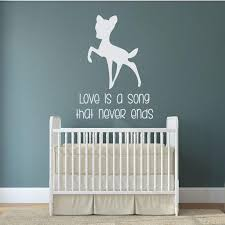 Cartoon Animal Wall Decal Bambi Vinyl Wall Stickers For Kids Rooms Quotes Love Is A Song Baby Kids Gift Bedroom Decor Art Wall Sticker Home Wall Sticker Home Decor From Onlinegame 12 66