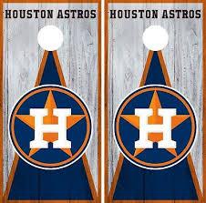 Houston Astros Cornhole Wrap Mlb Game Board Skin Set Vinyl Decal Art Co400 Cornhole Bag Toss