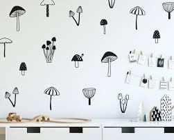 Mushroom Wall Decals Woodland Nursery Decals Forest Decals Kids Room Wall Decals Woodland Nursery Wall Stickers