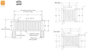 Vinyl Fence Kit Sand 3x8 Hawthorne Lake County Fence Company