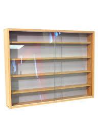 4 shelf glass wall display unit