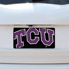 Tcu License Plates Tcu Horned Frogs Seat Covers Keychains Car Flags Fanatics