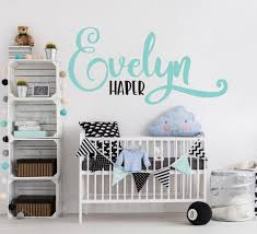Name Vinyl Wall Decal Sticker For Above Crib Nursery Wall Art Name K Lasting Expressions