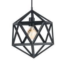 eglo 49761 embleton black geometric
