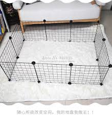 Diy Combination Wire Mesh Pet Cage Dog Cat Rabbit Cage Multi Function Fence Iron Cage Guinea