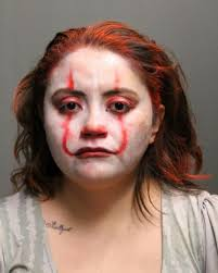 chicago police officer in clown makeup