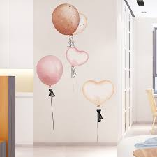 Shijuekongjian Colorful Balloons Wall Stickers Diy Cartoon Wall Decals For House Kids Bedroom Living Room Glass Decoration Wall Stickers Aliexpress