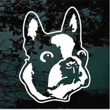 Boston Terrier Car Decals Stickers Decal Junky