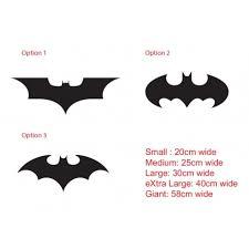 Batman Logo Car Sticker Outdoor Decal 3 Designs Ozdeco T S Polonaiz