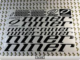 Niner Stickers Decals Bicycles Bikes Cycles Frames Forks Mountain Mtb Bmx 59u Ebay
