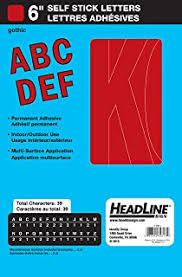 Amazon Com Duro Permanent Adhesive Vinyl Letters 6 Inch Red Home Kitchen