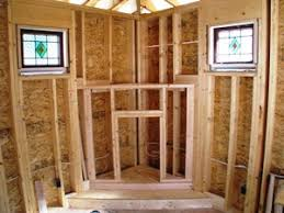 framing in a corner gas fireplace