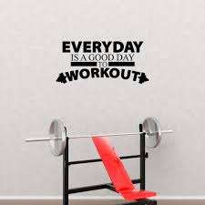 Everyday Is A Good Day To Workout Home Decor Fitness Gym Wall Decal Pc422 Walmart Com Walmart Com