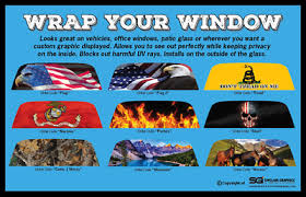 Rear Window Graphic Decal Wrap Tint Perf Print Sticker Truck Suv Car Perforated Ebay