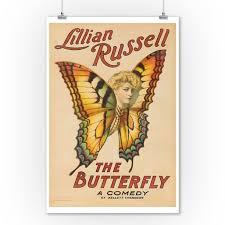 Lillian Russell The Butterfly Vintage Poster Usa C 1906 9x12 Art Print Wall Decor Travel Poster Walmart Com Walmart Com