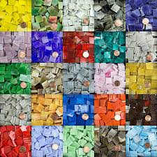 morjo thin stained glass mosaic tiles