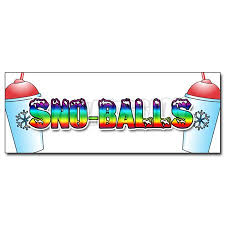 12 Sno Balls Decal Sticker Snowcones Water Ice Italian Shaved Ice Cold Fruit Walmart Com
