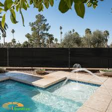 8ft X 25ft Black Fence Privacy Screen Commercial Outdoor Backyard Shade Windscreen Mesh Fabric 3 Years Warranty Customized Sizes Available
