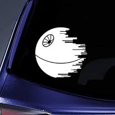 Amazon Com Bargain Max Decals Death Star Sticker Decal Notebook Car Laptop 6 White Automotive