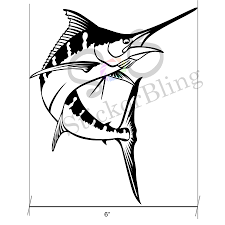Marlin Fish 6 Vinyl Decal Sticker Car Window Bumper Etsy Vinyl Decals Vinyl Decal Stickers Car Stickers