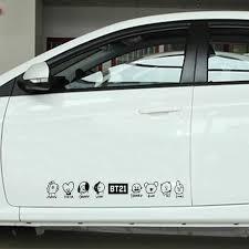 Car Sticker Cutting Vinyl Bt21 Character Line Bts Mang Tata Chimmy Van Shooky Koya Rj Cooky Shopee Malaysia