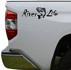 Amazon Com Hiweike River Life Trout Fishing Vinyl Decal Laptop Car Truck Bumper Window Sticker Automotive