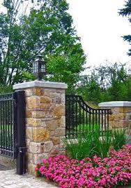 Driveway Fence Design Ideas Pictures Remodel And Decor Fence Design Fence Landscaping Backyard Fences
